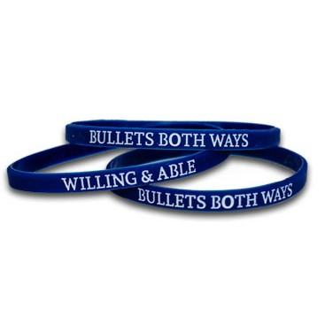 Bullets Both Ways Wristbands