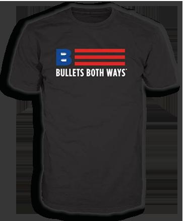 Bullets Both Ways Black Tshirt