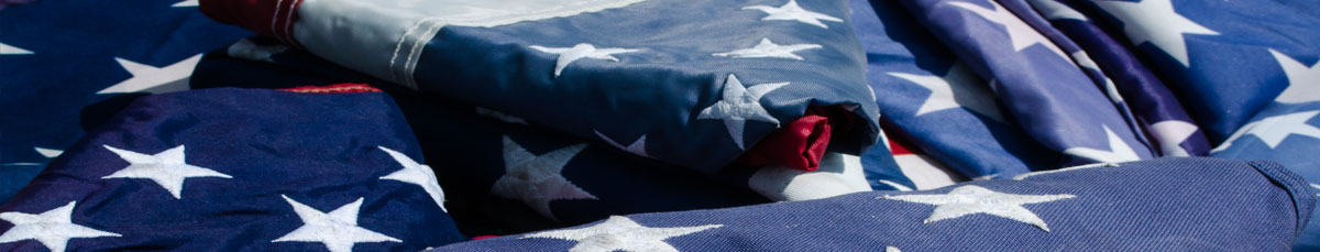 Bullets Both Ways Folded Flags