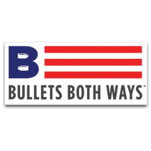 Bullets Both Ways Logo Stickers