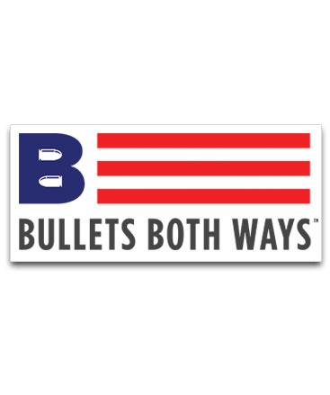 Bullets Both Ways Logo Stickers