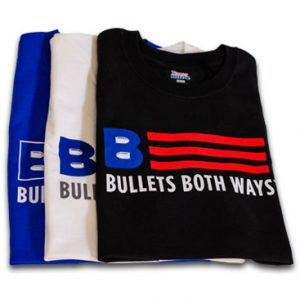 Bullets Both Ways Tshirt Flag Logo