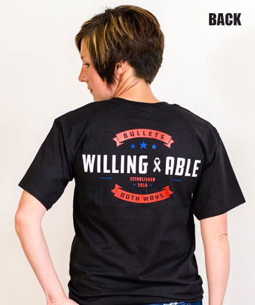 Bullets Both Ways Tshirt Willing & Able Black