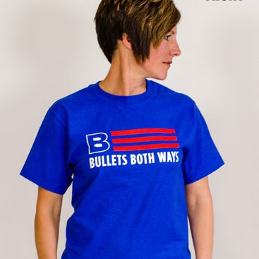 Bullets Both Ways Tshirt Willing & Able Blue