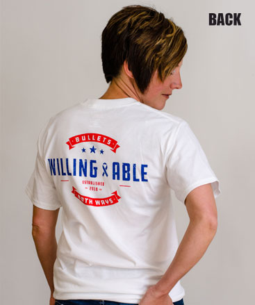 Bullets Both Ways Tshirt Willing & Able White
