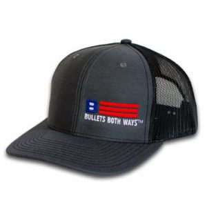 Bullets Both Ways Trucker Hat Black