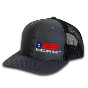 Bullets Both Ways Trucker Hat Black