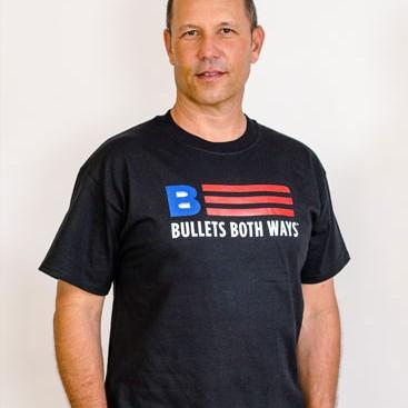 Bullets Both Ways Flag logo Tshirt black Men