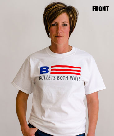 Bullets Both Ways Willing And Able T-Shirt White