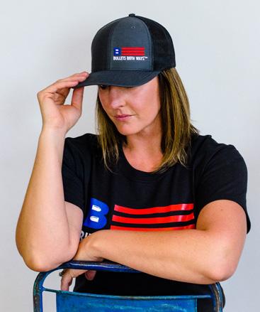 Bullets Both Ways Trucker Hat Charcoal Women