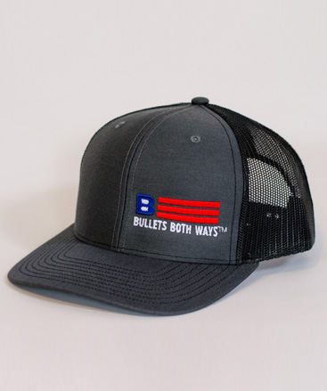 Bullets Both Ways Trucker Hat Charcoal