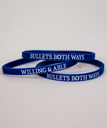 Bullets Both Ways Wristbands