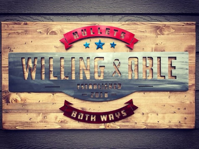 Custom Steel / Wood Decor - Willing & Able Stamp