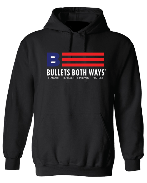 Bullets Both Ways Logo hooded sweatshirt