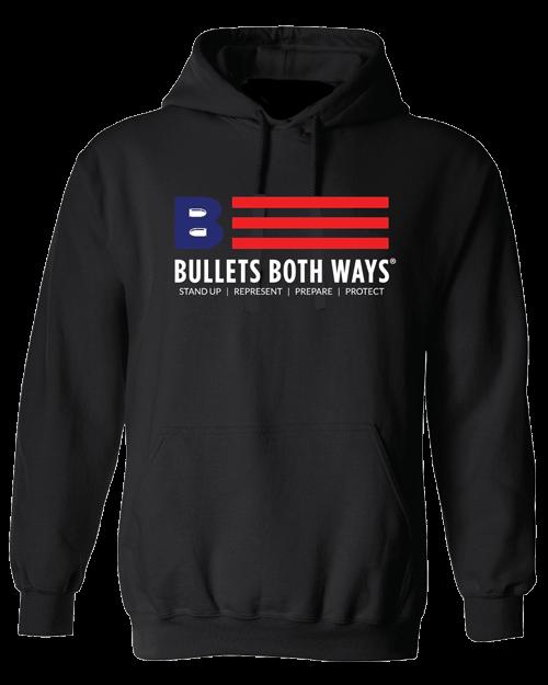 Bullets Both Ways Logo hooded sweatshirt
